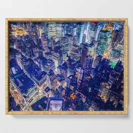 Colorful New York City Skyline Serving Tray