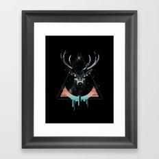 The Blue Deer Framed Art Print