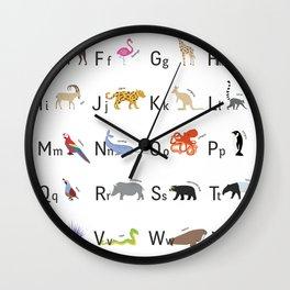 The Animal Alphabet Wall Clock