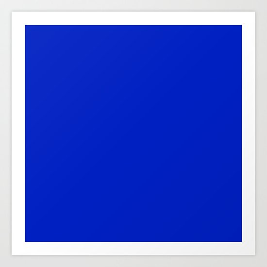 Solid Deep Cobalt Blue Color by podartist