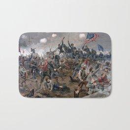 Vintage Lithograph of the Battle of Spotsylvania Bath Mat