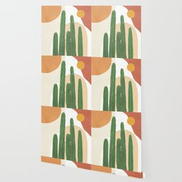 Abstract Cactus I Wallpaper
