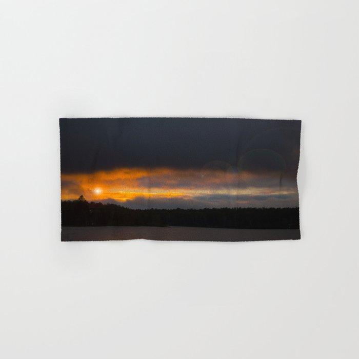 October Cloudy Sunset #decor #buyart #society6 Hand & Bath Towel