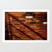 Shadow on Brick Art Print