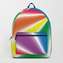 Gradient Rainbow Wedges Backpack