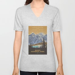 Banff National Park Unisex V-Neck