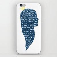 fandom iPhone & iPod Skins featuring CassJayTuck Fandom Queen by ElectricShotgun