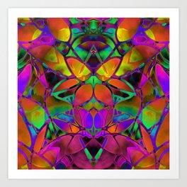 Floral Fractal Art G306 Art Print