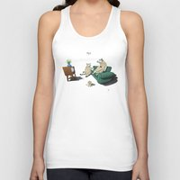 sheep Tank Tops featuring Sheep by rob art | illustration