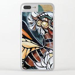 Bird Graffiti Clear iPhone Case