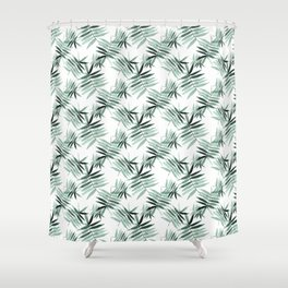 Watercolour Ferny Pattern Shower Curtain