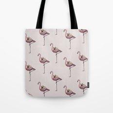 Flamingo and French Bulldog Tote Bag