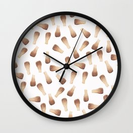 Modern watercolor brown cola bottles candy pattern Wall Clock