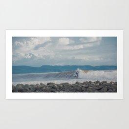 Traveling surfing Art Print