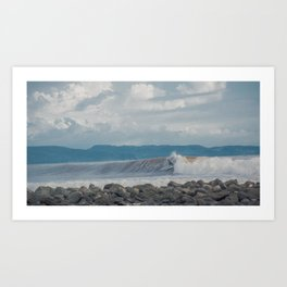 Traveling surfing Art Print