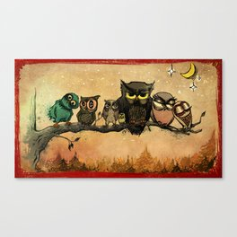 Midnight Owls Canvas Print