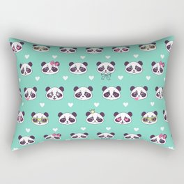 Cute pattern with panda. Rectangular Pillow