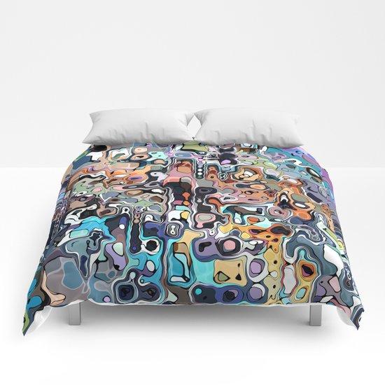 Abstract Digital Doodle 2 Comforters