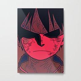 Anime Pirate Print Metal Print