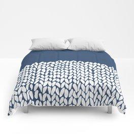 Half Knit Navy Comforters