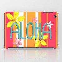 aloha iPad Cases featuring Aloha by Claire Lordon