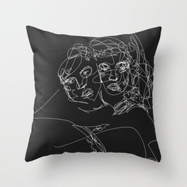 Connection by Sher Rhie Throw Pillow