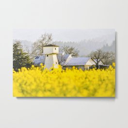 Napa Valley Mustard Metal Print