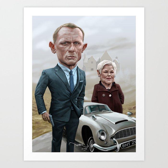 Skyfall James Bond - Daniel Craig Art Print