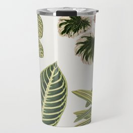 Botanical Green Plants Watercolor Painting Travel Mug