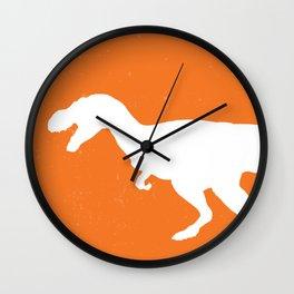 T-rex Orange Dinosaur Wall Clock