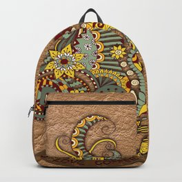 Hand-drawn doodle Art Backpack