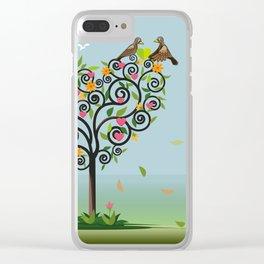Bird in love Clear iPhone Case