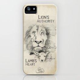 Lion's Autority, Lamb's Heart iPhone Case