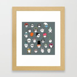 Part Kids (grey) Framed Art Print