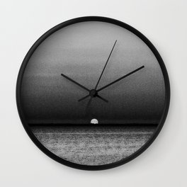 Sunset in Grayscale... Wall Clock