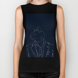 Dapper Cat Biker Tank