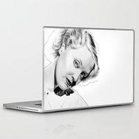 miles davis Laptop & iPad Skins featuring Bette Davis by Mutemouia