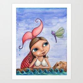 Mermaid Delight by Kylie Fowler Art Print