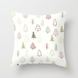 Winter Trees in Snowy Day Throw Pillow