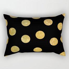 NL 8 Gold and Black Polka Dots Rectangular Pillow