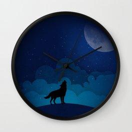HAUWLING WOLF Wall Clock