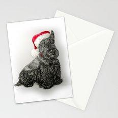 Santa Scottie Dog Stationery Cards