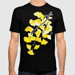 Golden Ginkgo Leaves T-shirt