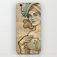 hallion iPhone & iPod Skins featuring Iron Woman 7 by Karen Hallion Illustrations