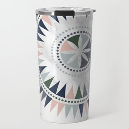 Scandinavian Floral Pattern Travel Mug