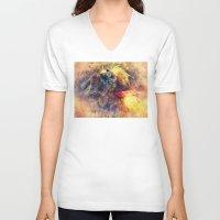 monkey V-neck T-shirts featuring Monkey by jbjart
