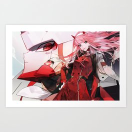 Zero Two Darling in the FranXX Art Print