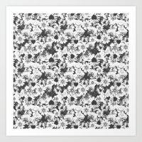 Glitch Floral Art Print