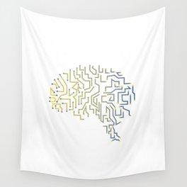 Gamer Programmer Coder Gift Funny Brain Men WOmen Shirt Wall Tapestry