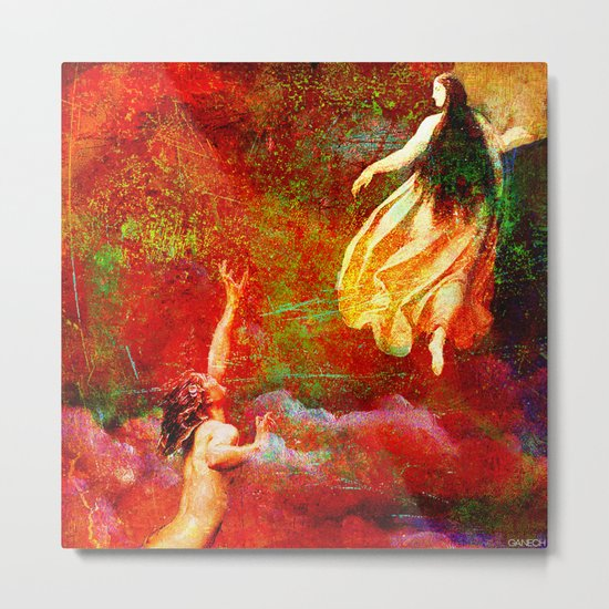 The farewells of the siren to the angel Uriel Metal Print